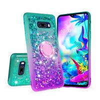 Glitter Shockproof Phone Cover for LG G8x ThinQ, LG V50s ThinQ Liquid Bling Case