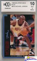 1998/99 Upper Deck MJ23 Insert #M10 Michael Jordan BECKETT 10 MINT Bulls HOF