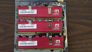 Mushkin Enhanced Redline 6GB (3 x 2GB)240-Pin DDR3 1600 (PC3 12800) SDRAM