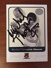 Signed Trading Card Mychal Thompson Fleer Greats Of The Game Minnesota Gophers