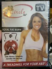 Ab Circle Pro Total Fat Burn Treadmill For Your Abs Fitness Dvd Only New