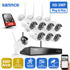 SANNCE 3MP WLAN Überwachungskamera 5MP NVR Mit Mikrofon IP Kameras Fernzugriff