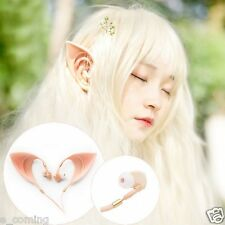 3.5mm Elf Ears Earphones Cosplay Spirit Fairy HIFI Earbuds For Smartphone MP3/4