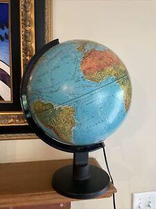 """Scan Globe A/S 1987 Karl Harig Illuminated 12"""" D World Globe Made in Denmark"""