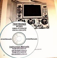 Tektronix Ops Amp Service Manual For The Sc503 Storage Scope Hi Amp Low Serial S