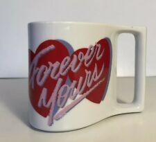 Valentine's Day Forever Yours Coffee Mug Heart Shaped Tea Cup Avon Vintage
