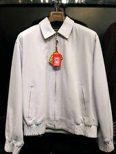 Men's White Torras Jacket Size 48 (XXXL) Lambskin Leather Made in Spain NWT