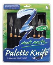 Mont Marte Palette Knife Set  6 in Zippered Wallet (MPB0001)