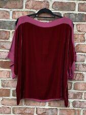 NWT Eileen Fisher Hibiscus/Red Velvet & Silk Kimono Cold Shoulder Top S M L XL