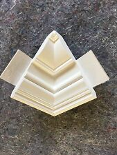 "Crown Moulding inside Corner Block Made From Alexandria 4 1/2"" Colonial Crown"