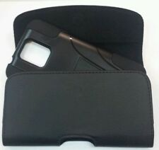 For Motorola Moto G4 Play BELT CLIP LEATHER HOLSTER FITS A HYBRID CASE ON PHONE