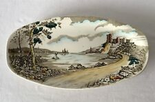 Vintage British Anchor Alton Pottery China oval Bread Server Plate 32x17cm