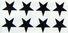 64 black stars 35mm. size iron on transfers wholesale pack 64 iron on stars