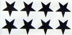 64 black stars 35mm. size iron on transfers wholesale pack 64 iron on stars