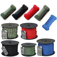 Army Military 550 Cord 50m 100m Paracord 4mm Tent Bivi Camping Guy Rope