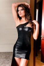 Minikleid Lederlook XS s 34 36 Club Kleid Partykleid