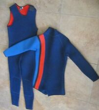 Fathom Seaflex Scuba Diving Full Body Wetsuit Sz.Large,Navy Blue/Red
