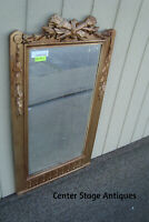 54335: Romantic Shabby  Antique Wood and Gesso Mirror