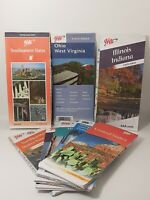 Lot of 8 Vintage AAA Road Maps 2000's USA States Various Areas