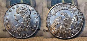 1835 Capped Bust Half Dollar 50c Choice AU Beautiful Luster !!