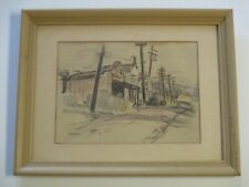 Clarence Keiser Hinkle DRAWING ANTIQUE WPA ERA CALIFORNIA REGIONALISM HISTORIC