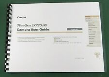 Canon PowerShot SX720 HS Instruction Manual: Full Color with Protective Covers!