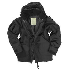 Protección humedad chaqueta con polar S S-3xl US Army Winter impermeable Mil-tec negro XL