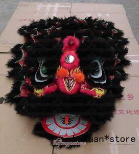 New Children Black Lion Dance Mascot Costume  Pure Wool Southern Lion Kid Size