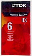 NEW TDK T-120HS Premium Quality 120 Blank VHS Tape Sealed