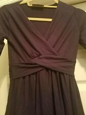 New Mother Bee Apparel Cross Front Ruched Dress Navy Size Small