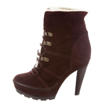 Coach Suede Ankle Boots US 9.5 Lace up