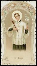 antico santino cromo-holy card S.LUIGI GONZAGA