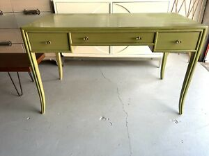 SUPERB HOLLYWOOD REGENCY McGUIRE DESK AND CHAIR