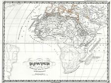 PERTHES MAP AFRICA PRIOR ARAB INVASIONS 7TH CENTURY POSTER PICTURE 2918PYLV