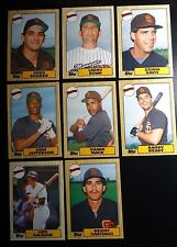 1987 Topps Traded San Diego Padres Team Set of 8 Baseball Cards