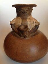 Folk Art Vase- Lady With Jug- RARE