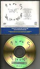 RUFUS WAINWRIGHT want GOLD TST PRESS 2003 ADVNCE PROMO DJ CD MINT USA DRMF14188