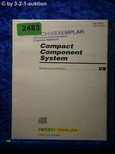 Sony Bedienungsanleitung CMT EX1 Component System (#2483)