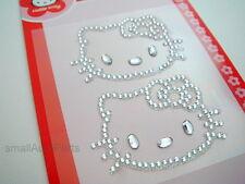 2 Hello Kitty Bling gem kit Diamond Rhinestones Decal Stickers for car/truck/suv