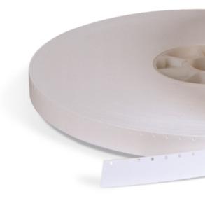 WHITE 16mm FILM LEADER SINGLE PERF MYLAR - 100 FEET