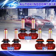 3Set Headlight 9005 9006 H11 Combo 4 Side LED High Low Beam+ Fog Light Bulb Kits