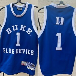 DUKE BLUE DEVILS MENS #1 BASKETBALL JERSEY SEWN LOGOS OFFICIAL COLLEGE EQUIPMENT