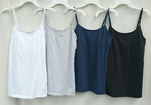 Maidenform Spaghetti Strap Camisoles Black, Blue, Gray, White Women's Size S, M