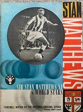 More details for sir stan matthews xi v world stars 1965 @  stoke