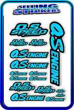 RC AIRCRAFT STICKERS HELI OS ENGINES CAR BUGGY O.S SPEED NITRO PETROL BLUE B