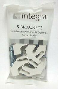5 Integra decorail curtain track brackets - Rail supports Deco rail parts