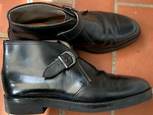 Alden Shell Cordovan Horsehide Leather Black George Boots  US 12,5 CE / EUR 47