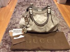 Authentic Gucci Sukey Guccissima Embossed Hobo Ivory Tote Bag