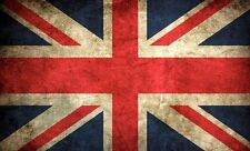 3x5 inch VINTAGE LOOK Union Jack Flag Sticker - decal london distressed uk old