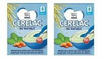 Nestle Cerelac Fortified Baby Cereal with Milk, Rice Vegetables, 300 gm x 2 pack